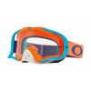 Oakley Crowbar MX Goggles Men's in Orange/Blue/Clear