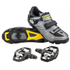 Shimano M163/M530 25th Anniversary Shoe & Pedal Combo Men's Size 44 in Black
