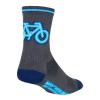 SockGuy Neon Socks Men's Size Small/Medium in Grey/Blue
