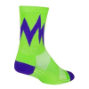 SockGuy Quake Socks Men's Size Small/Medium in Purple/Green