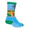 Sock Guy WoodRow Socks Men's Size Small/Medium in Blue/Green