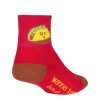 Sock Guy Taco Therapy Socks Men's Size Small/Medium in Red/Yellow