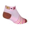 """Sock Guy PBJ 1"""" Socks Men's Size Small/Medium in Pink/Brown"""