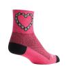 Sock Guy Chain Luv Socks Women's Size Small/Medium in Pink