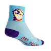 Sock Guy Grin Socks Men's Size Small/Medium in Purple/Blue