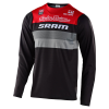 Troy Lee Designs Skyline LS Continental Jersey Men's Size Small in SRAM Black/Red
