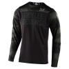 Troy Lee Designs Skyline LS Pinstripe Jersey Men's Size Small in Heather Gray/Navy