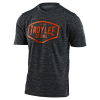 Troy lee Designs Flowline SS Youth Jersey Size Extra Small in Station Heather Black/Tangerine