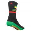 Sock Guy Rasta Cali Socks Men's Size Small/Medium in Black/Green