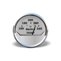 Marlin's Silver Oil Temp Gauge for FLHT/C/U, FLHX, FLTR