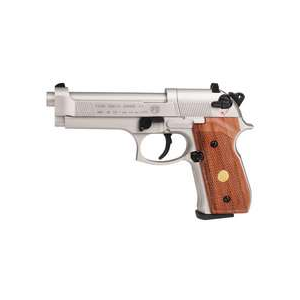 Beretta Air Pistol – M92FS Nickel w/ Wood Grips .177 cal CO2 Pellet Gun 0.177