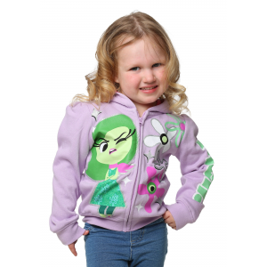 Inside Out Disgust Girls Toddler Hooded Sweatshirt