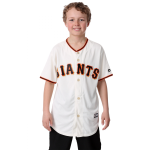 Replica Giants Home Blank Back Youth Jersey