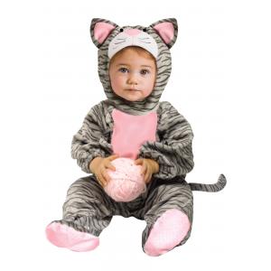 Striped Gray Kitten Toddler Costume