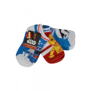 Size 4-6 Star Wars Ankle Sock 3pk Kids Unisex