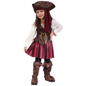 Caribbean Toddler Pirate Girl Costume For Little Child