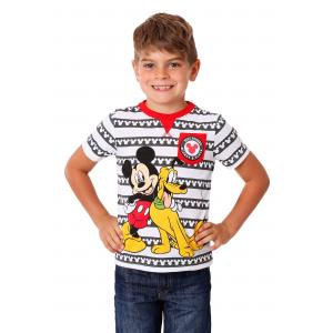 Toddler Boys Mickey and Pluto Pocket Tee