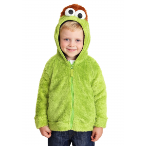 Sesame Street Oscar the Grouch Faux Fur Unisex Costume Hoodie