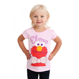 Girl's Toddler Sesame Street Elmo with a Bowtie T-Shirt