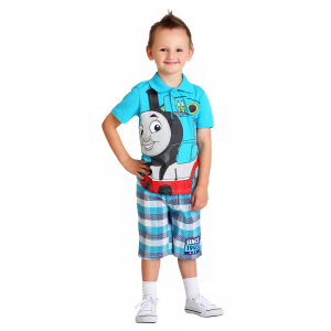 Thomas the Tank Engine Polo and Plaid Short Set For Toddlers