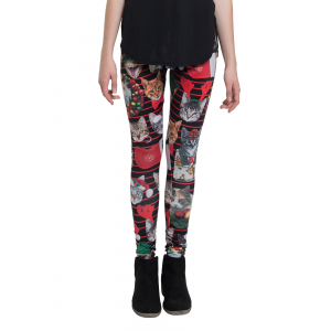 Holiday Catxmas Christmas Leggings
