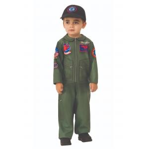 Boy's Top Gun Toddler Romper Costume