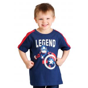 Toddler Boys Captain America Marvel Legend T-Shirt