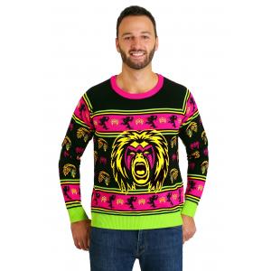 WWE Ultimate Warrior Adult Ugly Christmas Sweater