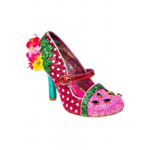 """Crimson Sweet"" Irregular Choice Pink/Green Heels"
