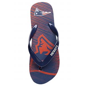 NFL Patriots Diagonal Stripe Fade Unisex Flip Flops