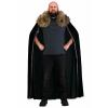 Faux Fur Black Collar Viking Cape