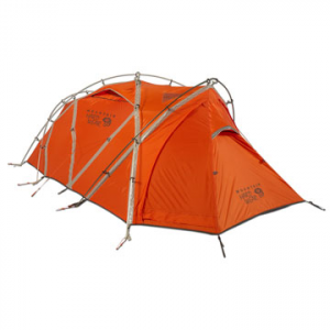 mountain hardwear ev 3-person camping tent- Save 15% Off - Mountain Hardwear EV 3 Person Tent - The EV 3 Camping Tent by Mountain Hardwear is compact, light, strong, and is designed for the rigors of high altitude expeditions. The EV 3's trim design makes it easier to fit on ledges, and its clip set-up aids in high-wind pitches. The Evolution Tension Arch stabilizes and strengthens the EV 3 once pitched, while adjustable vents allow versatile ventilation options. The EV 3 is also designed with an integrated vestibule to allow space for boots and other items near the door while still maintaining living space. Windows brighten the interior and give you a peek at exterior conditions. Superlight hardware help make the EV 3 tent lighter and drier than conventional tents. If you are looking for the best in strength and weight for harsh conditions, look no further than the EV 3 Camping Tent by Mountain Hardwear.