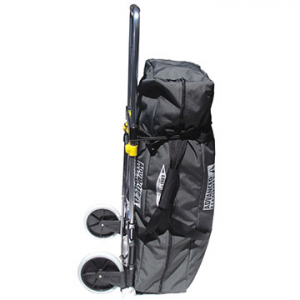 advanced elements compact inflatable kayak cart- Save 38% Off - Advanced Elements Compact Inflatable Kayak Cart - The Compact Cart makes transporting your Advanced Elements inflatable kayak and gear a pain free experience! Whether you are rolling from car to shore or through the airport on your way to your next exotic vacation, the Compact Cart makes it effortless. Simply strap your kayak duffel storage bag to the frame and away you go! The Compact Cart boasts a strong and lightweight aluminum frame for easy handling and can carry up to 150 lbs. The cart features a telescoping handle, over-sized rubber tires, a fold-up toe plate, and an elastic cord for securing the load. With the easy push button, the Compact Cart folds flat for quick storage. The Advanced Elements Compact Cart is the perfect accessory for transporting your inflatable kayak while on foot!