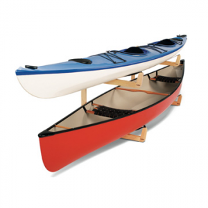 talic double bunk for canoes- Save 7.% Off - Talic Double Bunk for Canoes - Rest your canoes in the Double Bunk Canoe Rack from Talic and storage will no longer be an issue. The free-standing Double Bunk easily holds 2 canoes or extra wide kayaks. This compact system is only 36 inches tall by 72 inches wide and each cradle is 39 inches deep.  Sturdy construction and ingenious design, the Talic Double Bunk Canoe Rack is a perfect storage solution for those with a two boat collection.