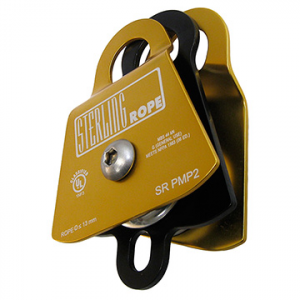 sterling sr pmp2 double prusik minding pulley- Save 25% Off - Sterling Rope SR PMP2 Double Prusik Minding Pulley - The PMP2 Double Prusik Minding Pulley by Sterling Rope is similar to the PMP Prusik Minding Pulley, but with twice the room for double the potential! Constructed from high strength aluminum side plates and a sealed ball bearing sheave that will keep out dirt and grit, to save your ropes and add incredible durability, and is compatible with any two ropes that are 13mm or less in diameter. As a prusik-minding pulley, you will not have to worry about the prusik getting sucked up into the system, and allows the rescuer to tend to another task. Get the Sterling Rope PMP2 Double Prusik Minding Pulley, and be prepared for anything