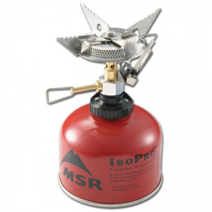 photo: MSR SuperFly with AutoStart compressed fuel canister stove