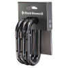 Black Diamond Oval Carabiner 3-Pack