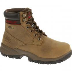 CATERPILLAR Women's 6 in. Dryverse Waterproof Steel Toe Work Boots, Dark Beige - Brown, 6.5