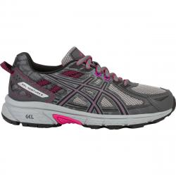 Asics Women's Gel-Venture 6 Running Shoes, Carbon/black/pink Peacock, Wide
