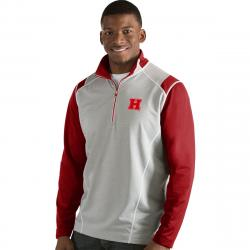 Harvard Men's Automatic 1/4 Zip Long-Sleeve Pullover - Red, L