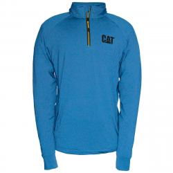 CATERPILLAR Men's Contour 1/4 Zip Sweatshirt - Blue, M