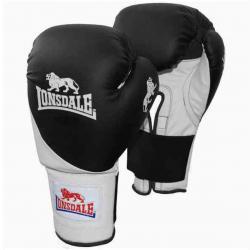Lonsdale Club Bag Boxing Gloves - Black, S/M