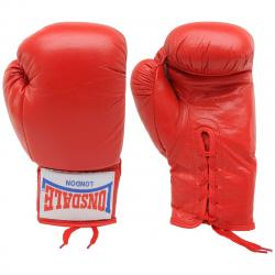 Lonsdale Autograph Boxing Gloves - Red, ONESIZE