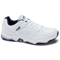 Avia Men's Avi-Rival Walking Shoes, White/true Navy/chrome Silver, Wide