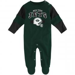 New York Jets Infant Boys' Team Believer Coveralls - Green, 3-6M