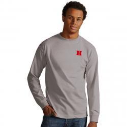 Harvard Men's Long-Sleeve Crew Tee - Black, XL