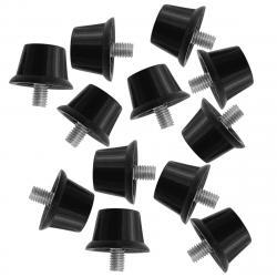 Sondico Safety Soccer Cleat Studs - Black, ONESIZE
