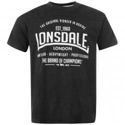 Lonsdale Men's Box Short-Sleeve Tee - Black, XS