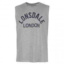Lonsdale Men's Box Muscle Tank Top - Black, 4XL
