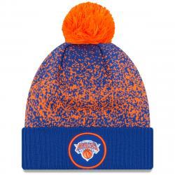 New York Knicks Cuffed Pom Knit Beanie - Blue, ONESIZE